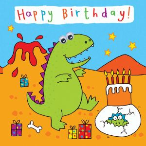 Childrens Birthday Card - Dinosaur